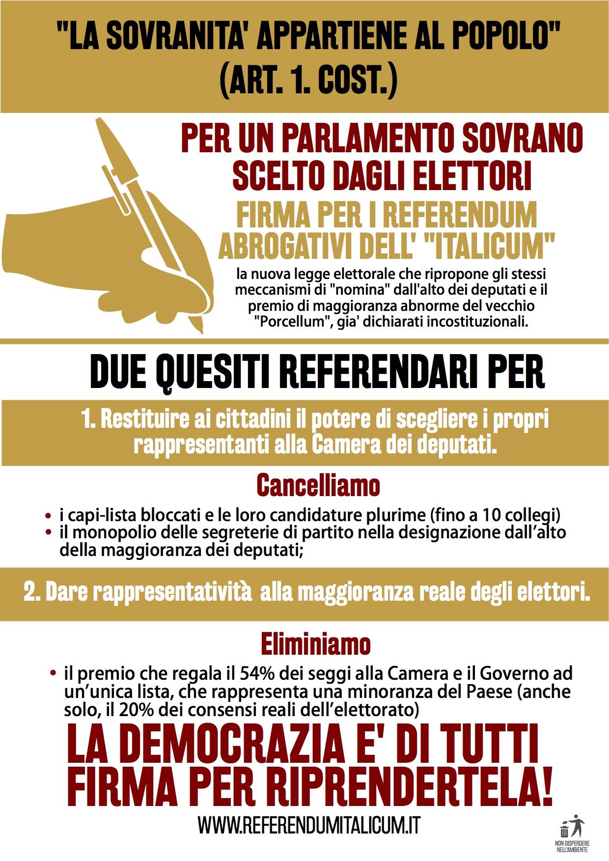 VOLANTINO FRONTE ITALICUM CON SIMBOLO