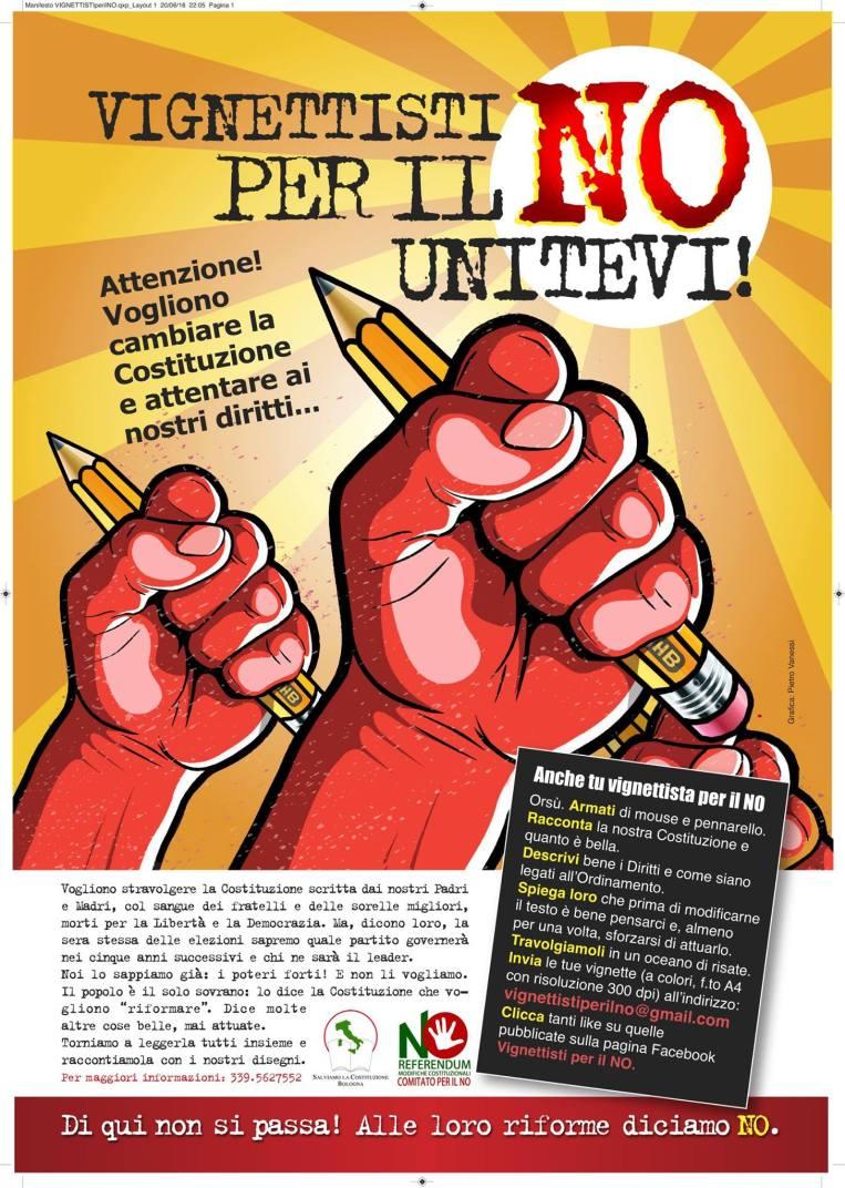 Vignettisti per il no - Referendum Costituzionale - Io voto no